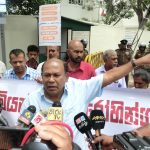 protest in front of Myanmar embassy